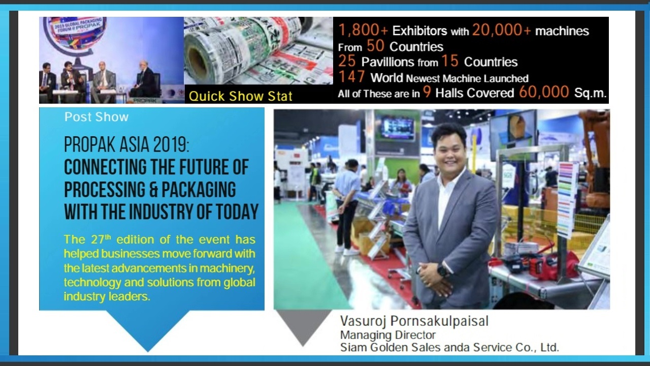 PROPAK ASIA 2019 The future of processing & Packaging with the industry of today